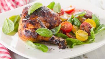 Cosce Di Pollo Con Verdure