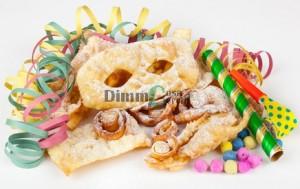 Dolci di Carnevale - Maschere e stelle filanti