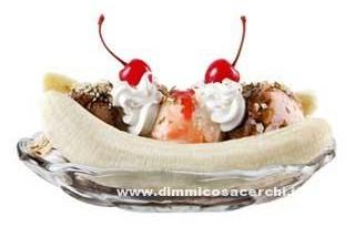 ricetta della banana split