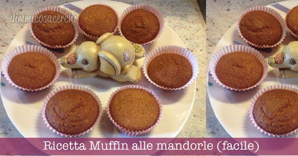 Ricetta Muffin alle mandorle